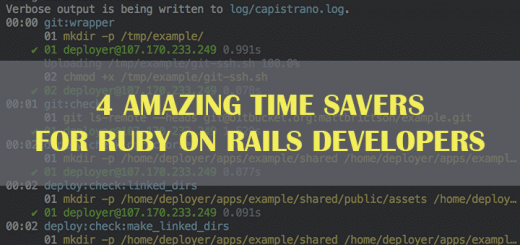Ruby on Rails tools