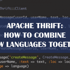 Apache Thrift: How to combine a few languages together?