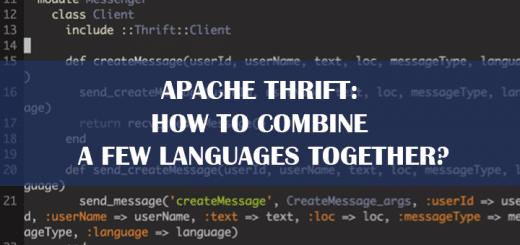 Apache Thrift Tips