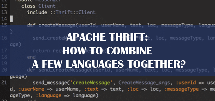 Apache Thrift Tips