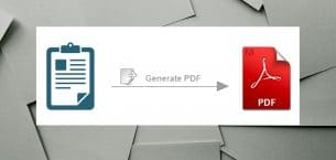PDF Tips. How to generate PDF document via ODF report right