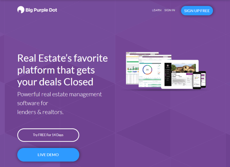 Homepage of the Big Purple Dot
