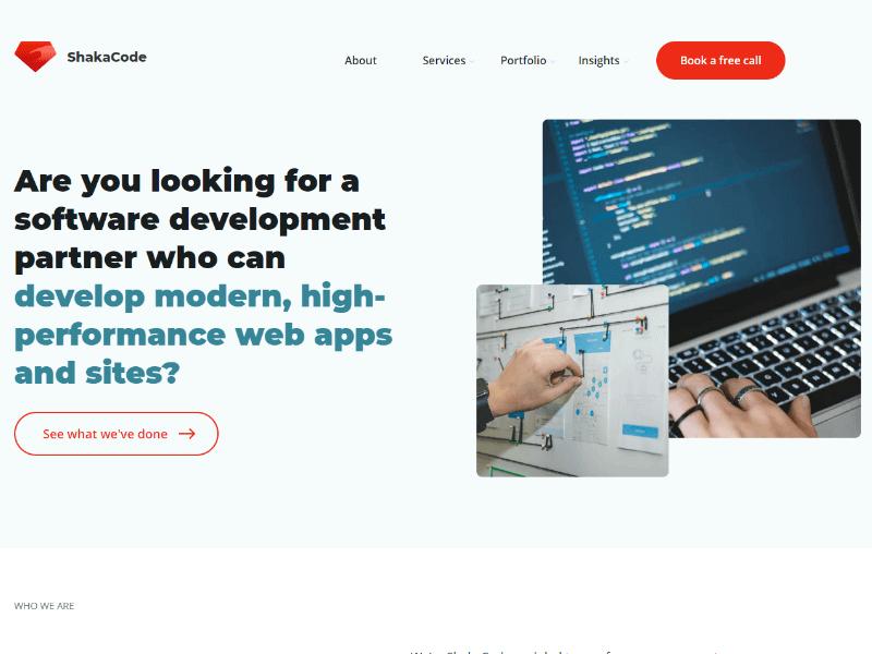 ShakaCode homepage