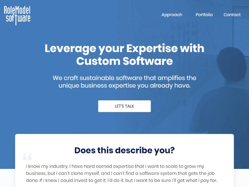 RoleModel Software homepage