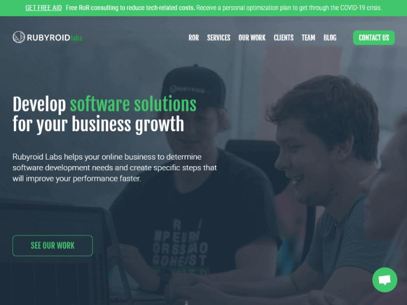 Rubyroid Labs homepage
