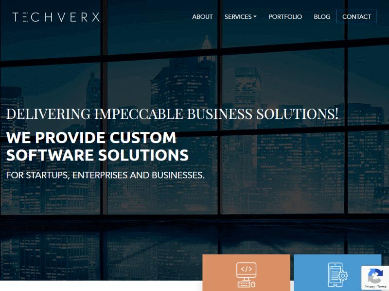 Techverx homepage
