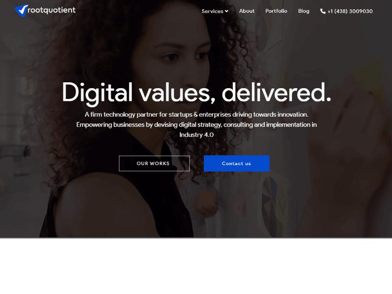 RootQuotient homepage
