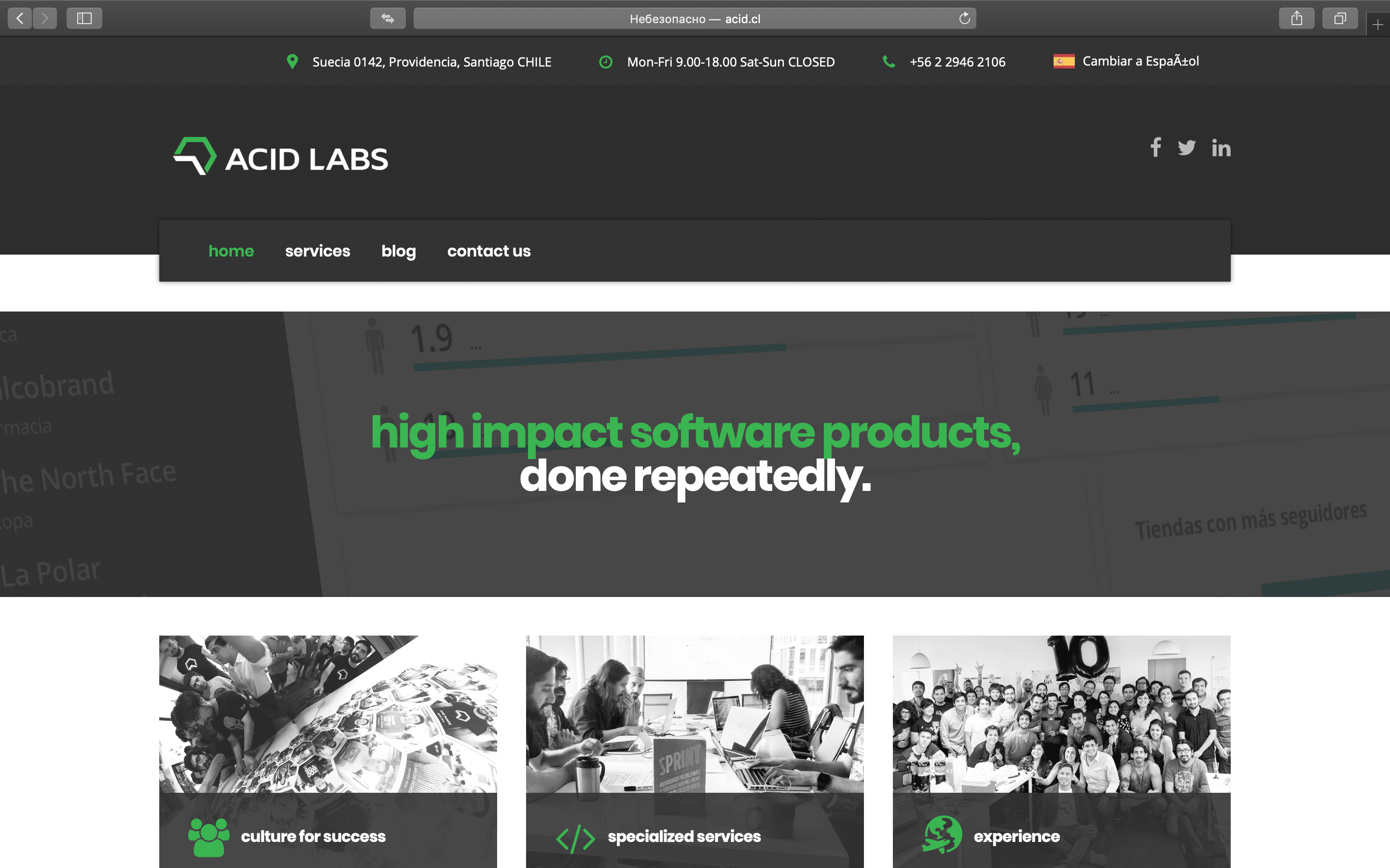 acid labs homepage