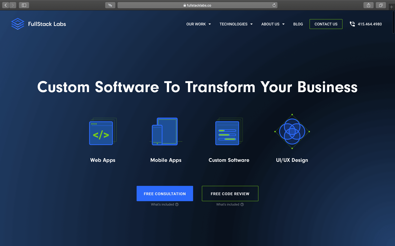 FullStack Labs Homepage