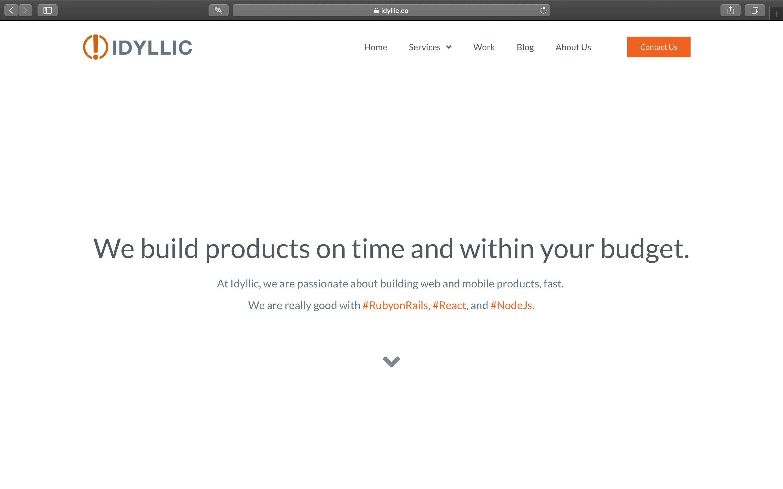 Idyllic Homepage