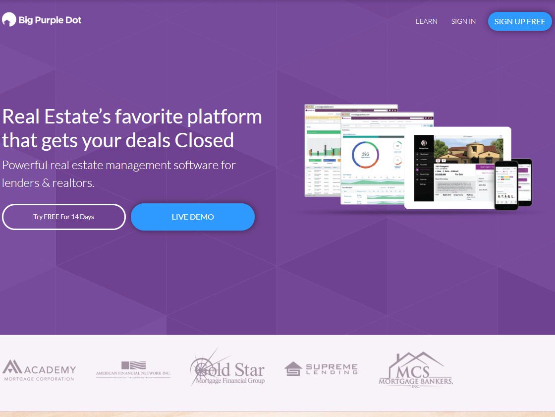 real estate software tools big purple dot
