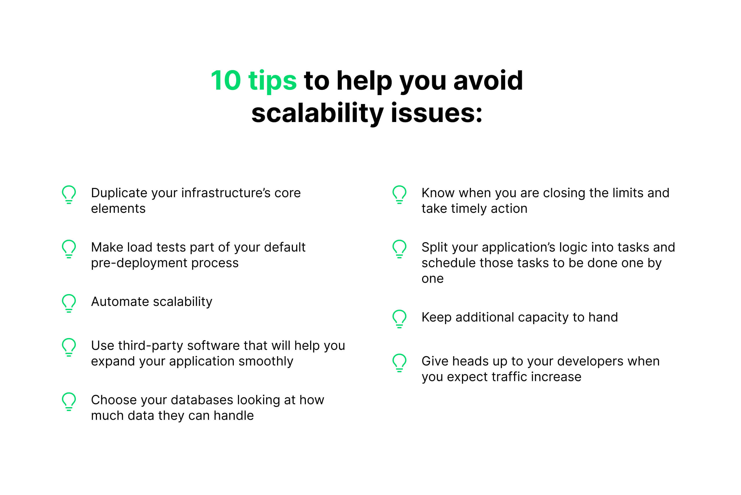 10 tips to avoid scalability issues
